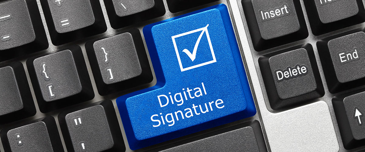 E-signing - digital signing of documents